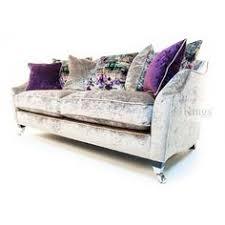 Upholstery Sussex Duresta Lansdowne 3 Seater In Sussex Stripe Duck Egg Blue Sofa