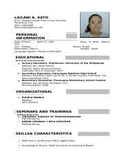 Sample Resume For Ojt Mechanical Engineering Students by Resume Christopher B Sarong Address Blk 324 Lot 7 Blue Bird St
