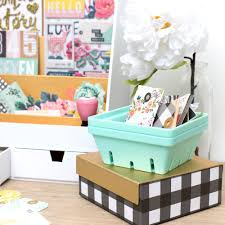 Stylish Desk Organizers by Introducing Crate Paper Storage Crate Paper