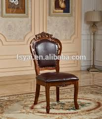 high back leather seat solid wood handmade dining chinese antique