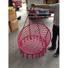 macrame hanging chair pink 100cm round only 2 left