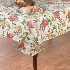 everyday fruits flannel back vinyl tablecloth 52 x