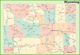 Map Of Usa And Cities by Road Map Of Wyoming With Cities