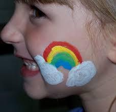 3 easy rainbow face painting ideas