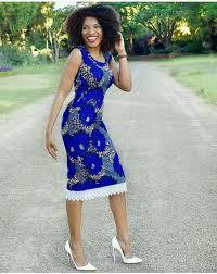 ghana chitenge dresses sleeves blue fitting chitenge dress kanyget fashions ghana