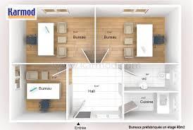 plan des bureaux bureaux préfabriquée 40m bureau de chantier mobiles