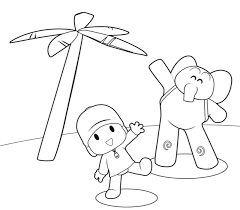 printable pocoyo coloring pages for kids cool2bkids throughout