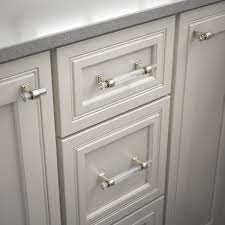 home depot for kitchen cabinet handles liberty 1 9 16 in 40 mm polished nickel and clear acrylic
