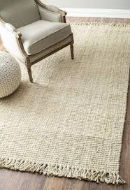 Area Rug White Decor Pretty Brown Handmade Wool Jute Rug 8x10 Inch Area Rug