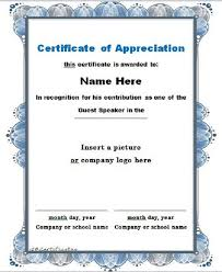 Letter Of Commendation 30 Free Certificate Of Appreciation Templates And Letters