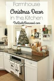 farmhouse christmas decor in the kitchen