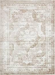 amazon com unique loom sofia collection beige 9 x 12 area rug 8