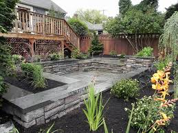 Small Sloped Garden Design Ideas Corner Sloping Garden Design Ideas Corner