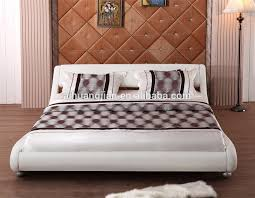 cheap bed frame curve shape bed frame manufacturer double size bed