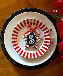 Holiday Table Settings by Holiday Table Setting Idea Red White Black