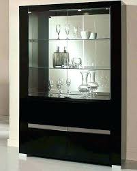 black corner china cabinet contemporary china cabinet partedly info