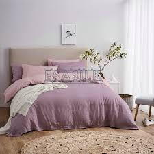 two tone 100 french linen duvet cover linen bed sets 3pcs lot