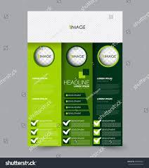 business flyer template simple green design templates print