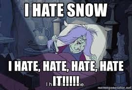 Hate Snow Meme - i hate snow i hate hate hate hate it mad madam mim