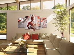 Handpainted HiQ Wall Art Home Decor Flower Oilpainting On Canvas - Wall paintings for home decoration