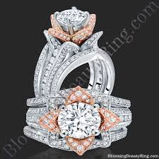 Rose Gold Wedding Rings For Women by Unique Engagement Rings For Women By Blooming Beauty Jewelry