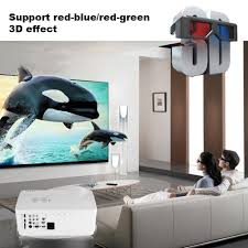 projector home theater uhappy h1 hd led projector 3d 3000 lumens home theater cinema hdmi
