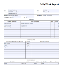 employee daily report template professional and high quality