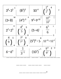 Of Exponents Worksheet Laws Of Exponents Worksheet By Julie Craft Teachers Pay Teachers