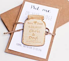 jar favors jar save the date magnet wood wedding magnets jar