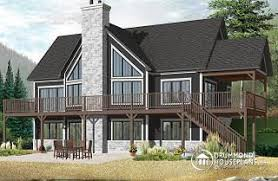 chalet building plans mountain house plans ski chalets from drummondhouseplans