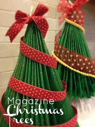 recycled magazine trees will make you flip