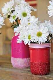 jar vases diy glitter jar vases craft miss momma