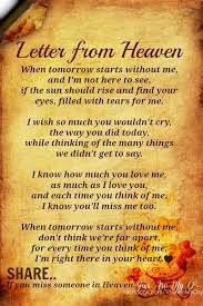 not so much a quote but lovely anyway letter from heaven is