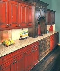 pictures of red kitchen cabinets barn red kitchen cabinets jewelsbyzahra com
