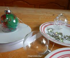creative ideas for clear ornaments