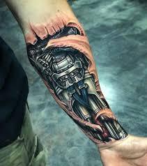 best armband tattoo designs robot forearm mens biomechanical piece best tattoo design ideas