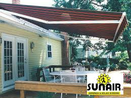 Roof Mounted Retractable Awning Custom Retractable Awnings By B U0026h Contractors Of Bucks County