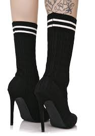 knee high halloween socks black sock ankle boots dolls kill