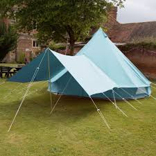Tent Awning Sky Blue Bell Tent Canopy Boutique Camping