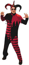 harlequin halloween costumes deranged jester costume all mens halloween costumes mega fancy