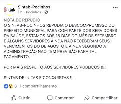 pagamento mes agosto estado paraiba sintab repudia descompromisso de prefeito para com servidores da