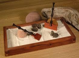 Mini Zen Rock Garden Decoration Japanese Rock Garden Rake Tabletop Zen Garden