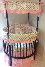 bedroom round cribs for baby bedroom decorating ideas with polka