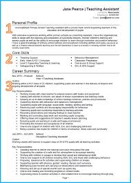 Career Profile Resume Examples 100 Resume Samples Teacher Assistant Innovation Idea