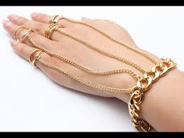 bracelet ring design images Gold bracelet jewelry design for girls finger ring chain jpg