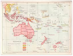 Oceania Map Oceania Map Strand Album 1908 U2013 Philatelic Database