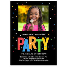 My Birthday Invitation Card Stars 5x7 Birthday Invitation Card