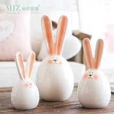 rabbit home decor miz 1 piece rabbit figurine home decoration accessories ceramic doll