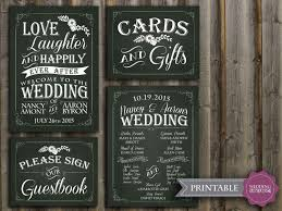 chalkboard wedding program chalkboard wedding sign package printable wedding program sign