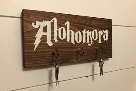 key holder wall alohomora key holder harry potter key holder harry potter sign